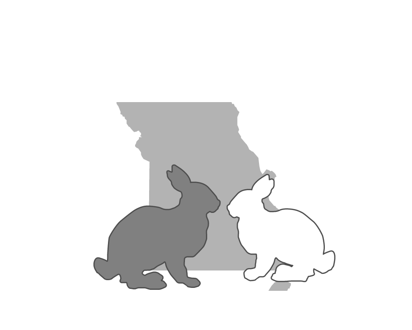 The Missouri House Rabbit Society Logo